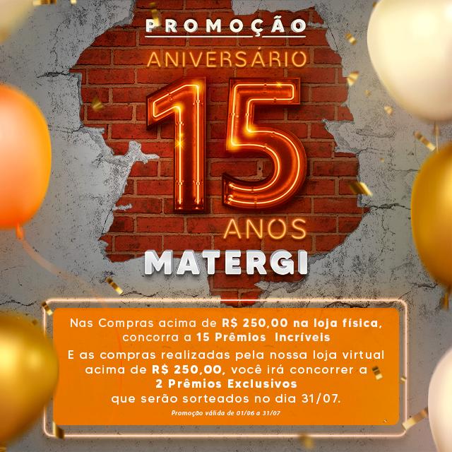 Banner Home - Aniversário 15 anos Matergi